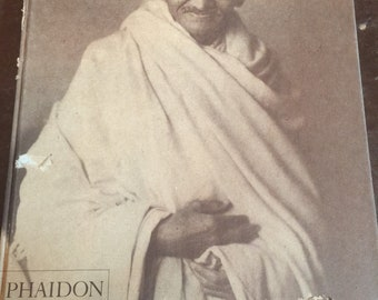 Vintage Phaidon Gandhi Coffee Table Book