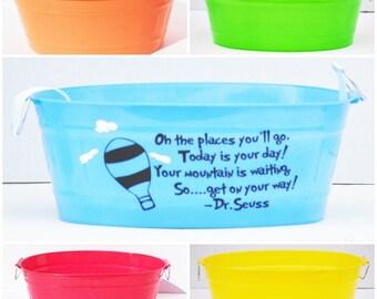 Personalized Dr.Seuss oval bin!
