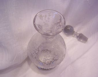 Cambridge Chantilly Cordial Decanter, Sterling Rim, Marked