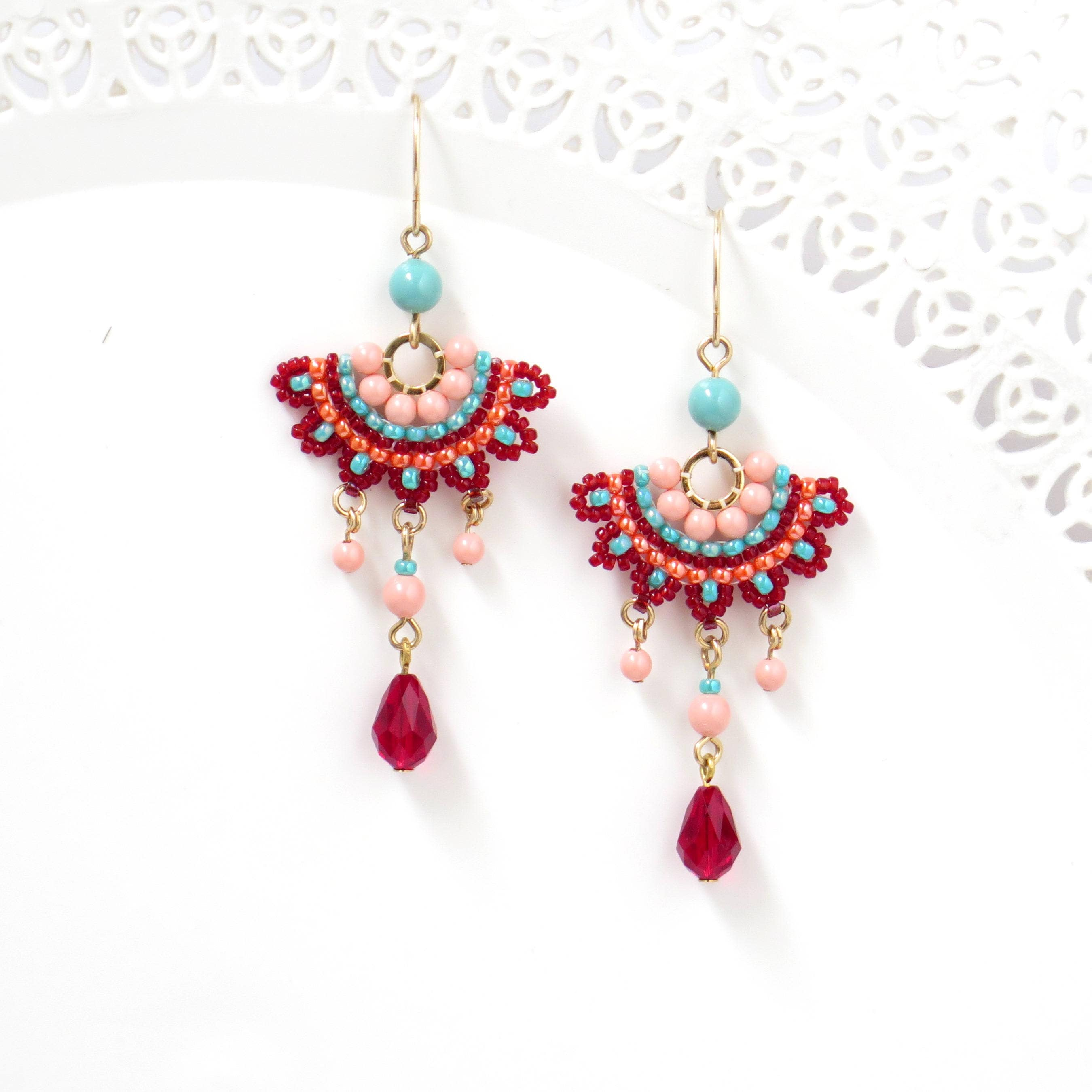 Fashion earrings colorful chandelier earrings crystal zoom arubaitofo Images