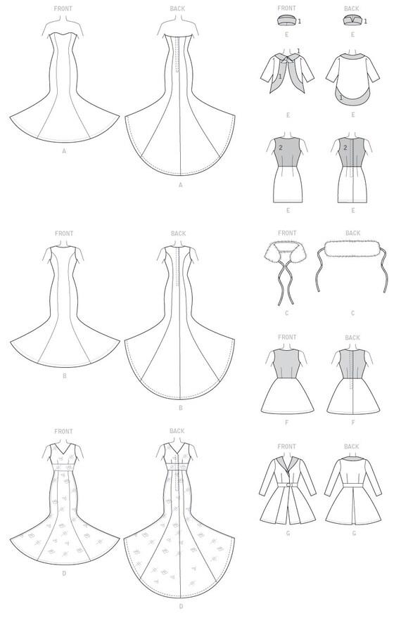 Schnittmuster für Kleider Stola Kleider Mäntel Mütze für
