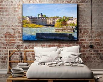 Fox River Mills Apartments, Fox Cities, Fox River, Appleton, Wisconsin, Home Decor, Large Wall Art, Fall Print, Autumn Foliage