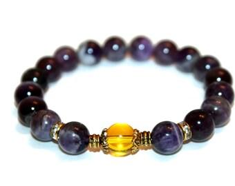 Amethyst Bracelet Healing Bracelet Meditation Bracelet Healing Jewelry Mala Beads Bracelet Spiritual Jewelry Yoga Bracelet Healing Beads