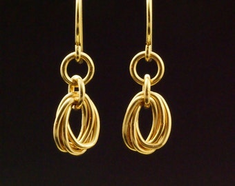 14kt Gold Filled Oval Mobius Earrings