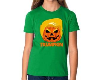 Trumpkin Youth Shirts Kids T Shirts Pumpkin Trump Halloween Costume