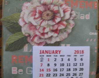 Mini Magnetic Calendars-- Floral 2018