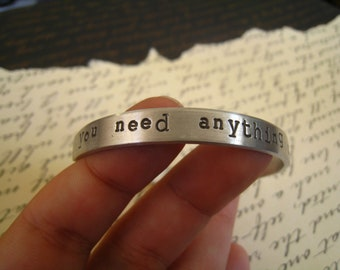 """Dr. Horrible """"Do you need anything dampened or made soggy"""" Bangle, Moist quote, Dr Horrible's Sing-a-Long, Gift Wrapped FREE SHIPPING"""