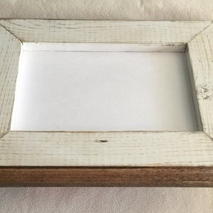 Our # 1 Best Seller! 8 x 8 Picture Frame, Rustic Weathered White With Routed Edges, Square Picture Frame, Home Decor, Rustic Wood Frame