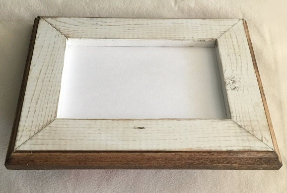 Our # 1 Best Seller! 8 x 8 Picture Frame, Rustic Weathered White ...