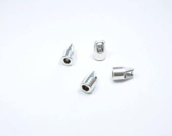 AP104 - Set of 4 silver metal caps