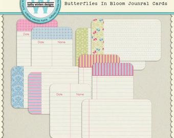 Digital Scrapbook Kit Butterflies In Bloom Journal Cards