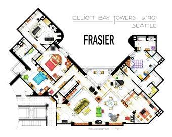 Floorplan of the apartmen from FRASIER