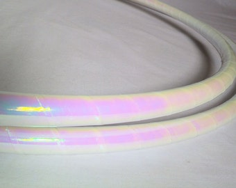 White Pearl  Performance Polypro or HDPE Hula Hoop or Minis 3/4 or 5/8