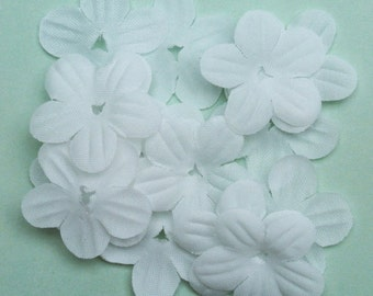 White Fabric Flower-Fabric Flowers-Flower Petals-Flowers-Petals