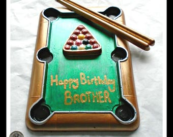 Snooker Gift Chocolate/Pool Table/Snooker Player/Billiard/Personalised Gift/Snooker Game/Teen Boy/Male/Men/Husband/Dad/Boyfriend/Brother/Son