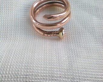 Double Turn Nail ring