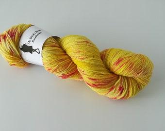 Stardust Sock - Phoenix / Feeniks - Hand dyed yarn, 75/20/5 Merino/Nylon/Lurex, 100g/400m