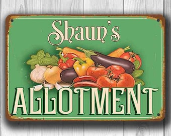 CUSTOM ALLOTMENT SIGN, Personalized Allotment Sign, Vintage style Allotment Sign, Custom Allotment sign, Custom Outdoor Sign, Allotment