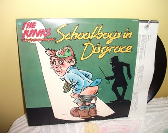 The Kinks Schoolboys in Disgrace Vinyl Record album GREAT CONDITION