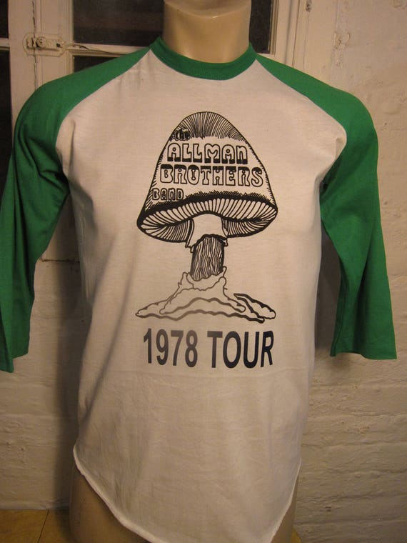 Size L (44) ** Old Stock Dated 1978 Allman Brothers Rock Shirt (Deadstock Unworn) (Single Sided) (Screen Stars)