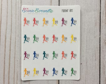 Runner Girl Planner Stickers