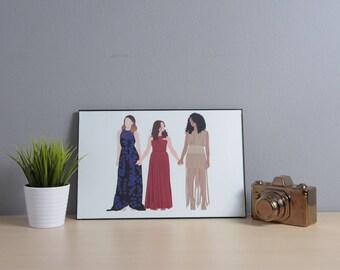 Jane Sloan | Kat Edison | Sutton Brady | The Bold Type | Digital Art | 17x11 Poster | TV Show Art | TV Show Poster | Fandom | Feminist