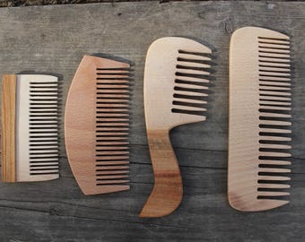 Wood combs.Set of 4 wood combs.Wood comb.Wooden combs.Wood combs.Eco-friendly combs.Decorative combs.Handmade Wood Comb.Natural Hair Care.