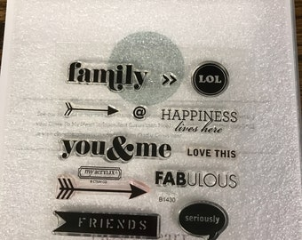 B1430 Happiness Lives Here - CTMH My Acrylix Stamp Sets