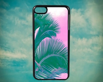 Purp Sky Palm Tree Vision for Apple iPod Touch 4th Generation, iPod 5th Generation and iPod 6th Generation iPod Case