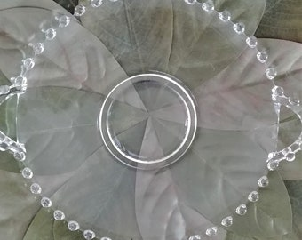 Candlewick Imperial Glass Plate with Handles