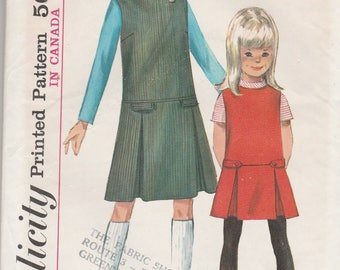 Simplicity 6150 Vintage Pattern Girls Jumper and Blouse with Matching Tammy Doll Outfit UNCUT SIze 12