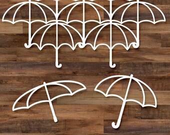 Umbrella cut file set - 6 files, parasol, svg files