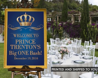 Little Prince Welcome Sign - Baby Shower Prince Sign - Welcom Sign First Birthday