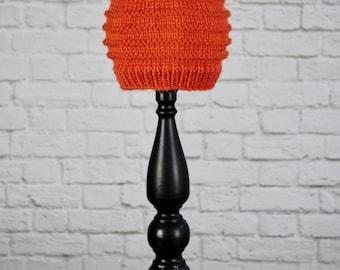 Baby Hat, Orange Baby Hat, Winter Hat for Baby, Gift for Baby, Baby Shower Gift, Hand Knit Baby Hat