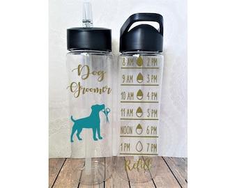 Dog Groomer Water Bottle, Dog Groomer Gift, Pet Groomer, Pet Groomer Gift, Dog Grooming, Best Dog Groomer, Dog Groomer Gifts, Groomer