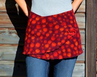 Acer, wrap skirt, mini Wickelrock, miniskirt, hip flatter, hip warmer