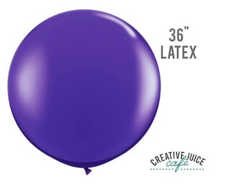 "36"" PURPLE giant latex balloon - Perfect for weddings, birthdays, photography props"