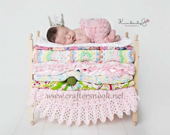 Newborn Photo Props * Baby Doll Bed * Mom to Be Gift for Baby Shower Gift for Twins * Photography Props * Posing Beds * DIY Baby Beds