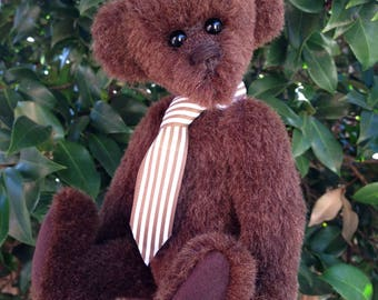 Geordie - an artisan collectible mohair bear
