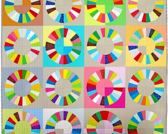 Color Wheel - Foundation Paper Piecing Pattern only.