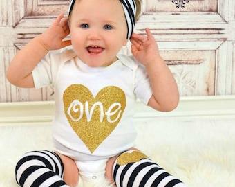 First Birthday shirt girl- first birthday outfit girl- One Birthday Shirt- cake smash outfit- first birthday girl