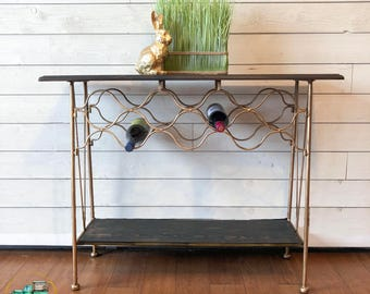 shabby chic bar cart etsy. Black Bedroom Furniture Sets. Home Design Ideas