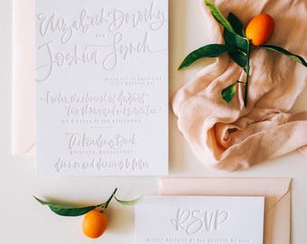 The Lizzie - Taupe Letterpress Suite