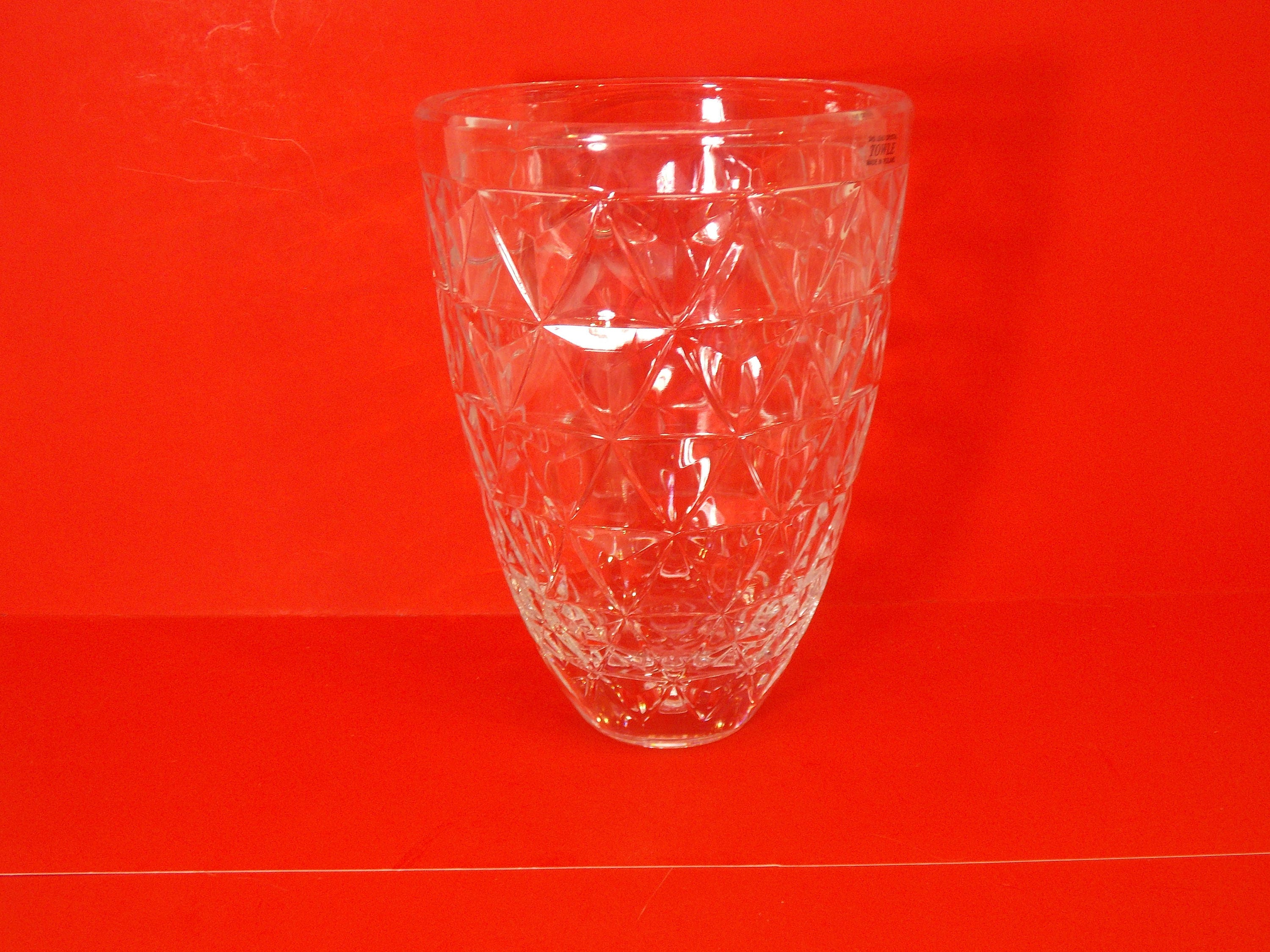 Vintage large heavy towle 24 lead crystal vase 10 h zoom floridaeventfo Image collections