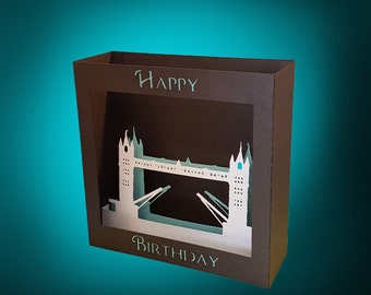 London Bridge Birthday box card template