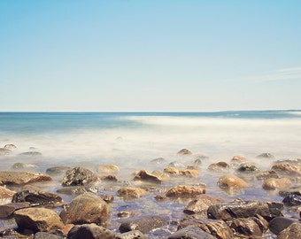 Beach Photography, Dreamy Ethereal, Ocean Photography, Coastal Picture, Plum Island, New England Photography, Long Exposure, Summer, Seaside