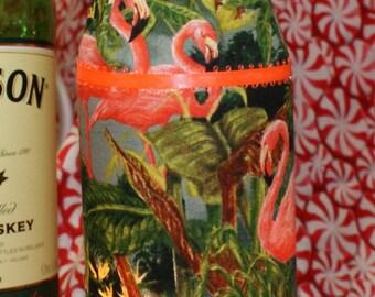 Wine bottle light...the pink flamingo