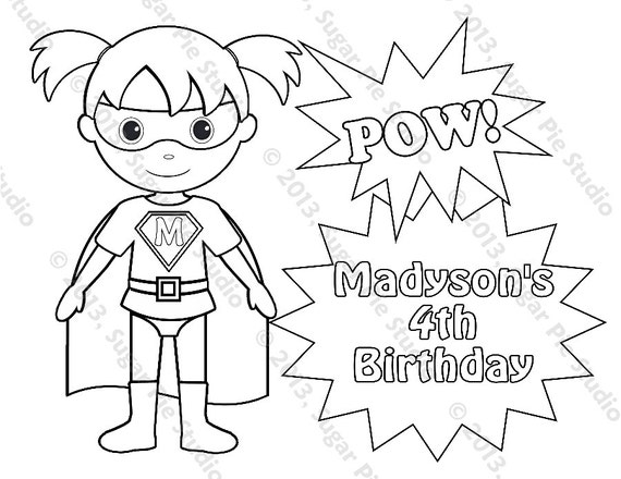 child superhero coloring pages - photo#16