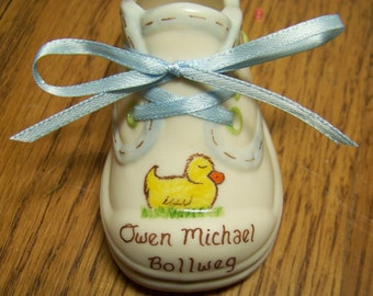 Personalized Porcelain Baby Shoe