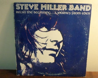 Vintage 1972 Vinyl LP Record The Steve Miller Band Recall the Beginning A Journey From Eden Excellent Condition 15677
